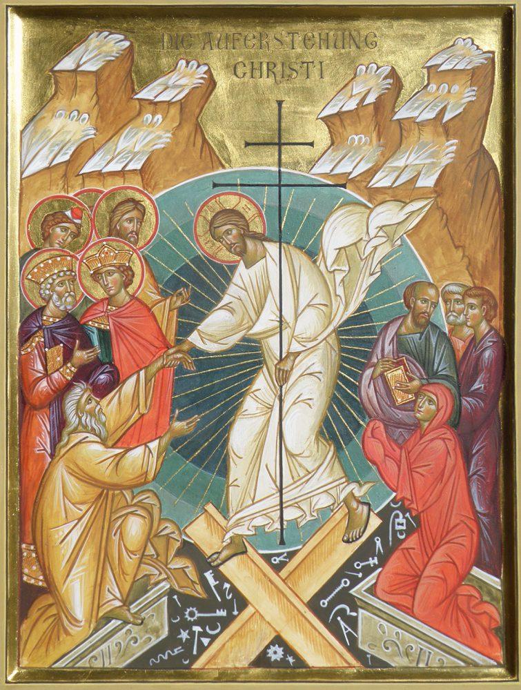 Auferstehung Christi, Ikone, Ikonenmaler Alexander Stoljarov