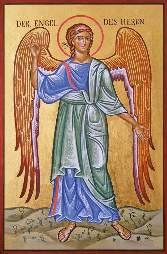 Der Engel des Herrn, Ikone, Ikonenmaler Alexander Stoljarov