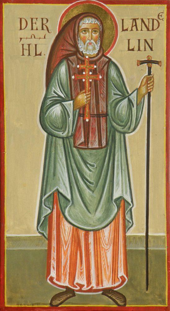 Der Hl. Landelin, Ikone, Ikonenmaler Alexander Stoljarov