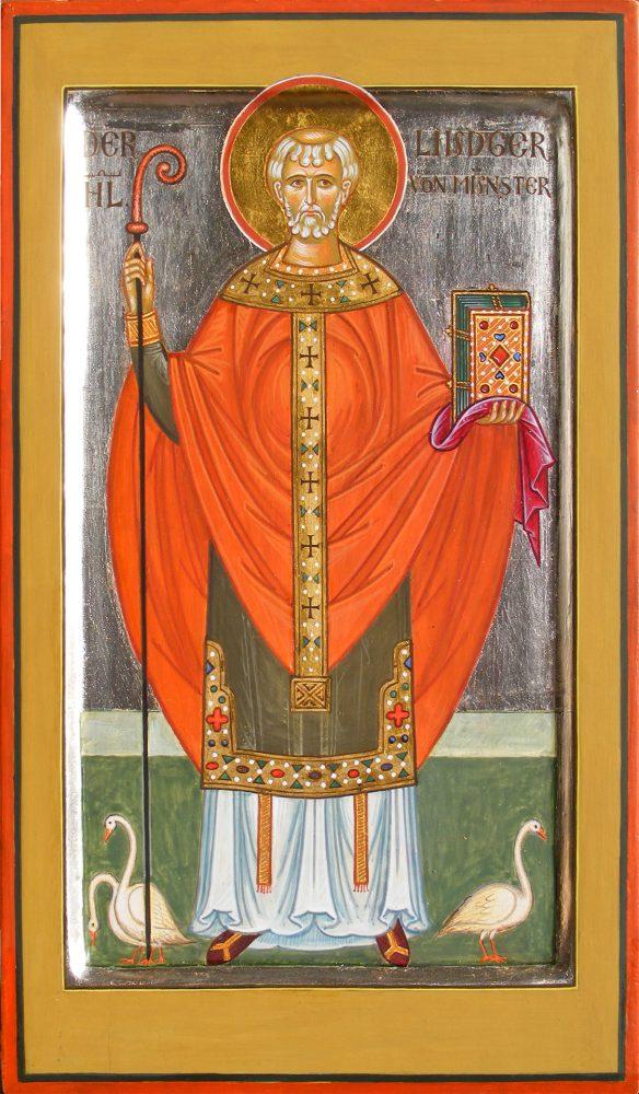 Der Hl. Liutger, Ikone, Ikonenmaler Alexander Stoljarov