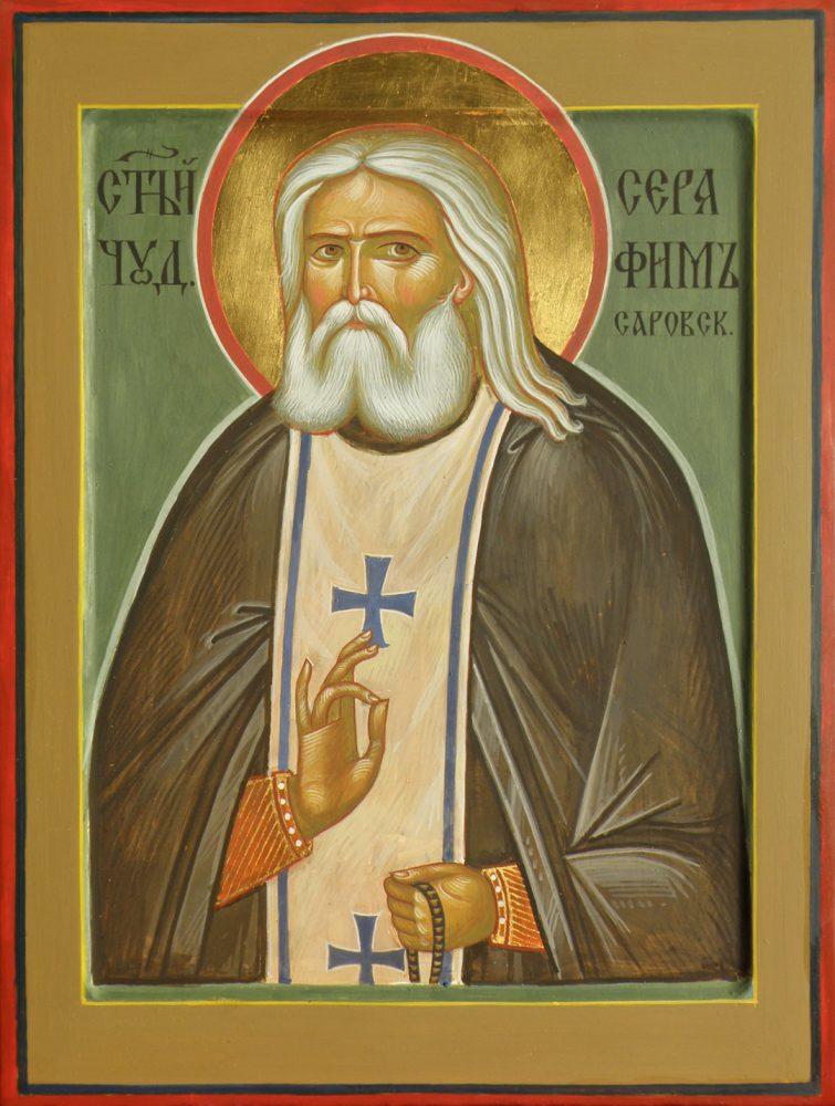 Der Hl. Serafim, Ikone, Ikonenmaler Alexander Stoljarov