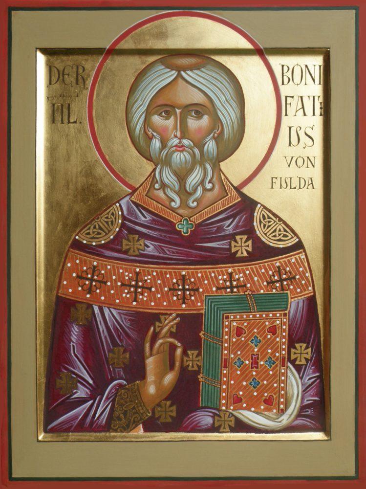 Der heilige Bonifatius, Ikone, Ikonenmaler Alexander Stoljarov