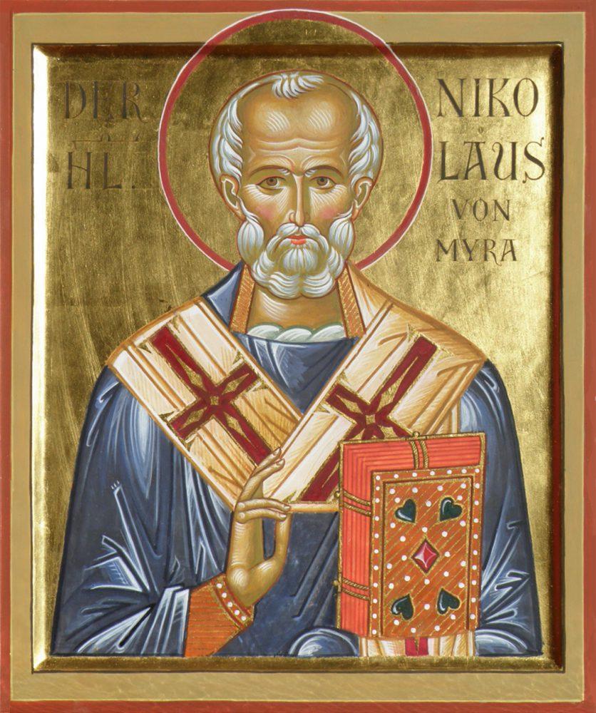 Der Hl. Nikolaus, Ikone, Ikonenmaler Alexander Stoljarov