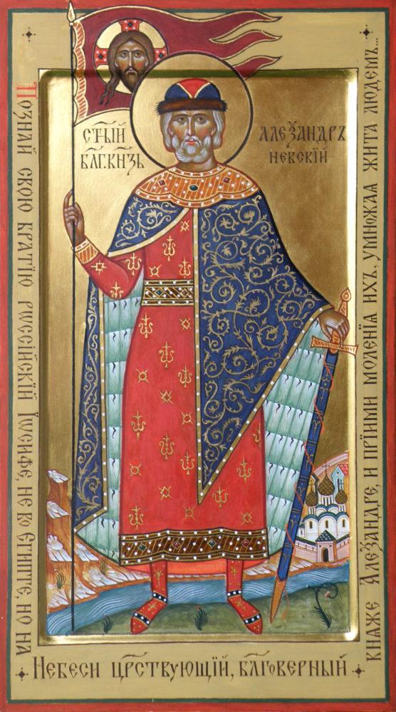 Der Hl. Alexander Nevskij, Ikonen, Ikonenmaler Alexander Stoljarov