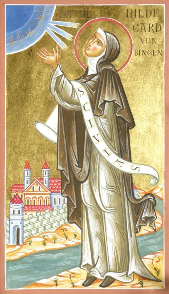 Die Hl. Hildegard von Bingen, Ikone, Ikonenmaler Alexander Stoljarov