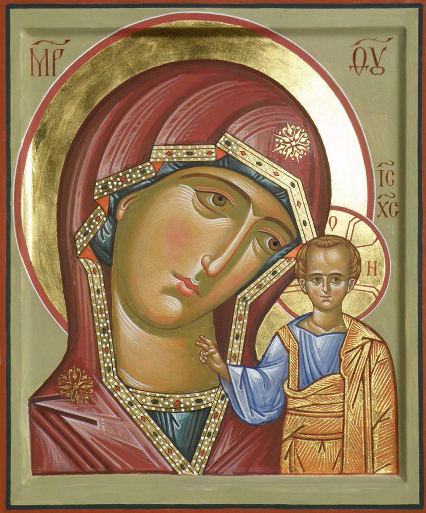 Die Mutter Gottes Kasanskaja, Ikone, Ikonenmaler Alexander Stoljarov