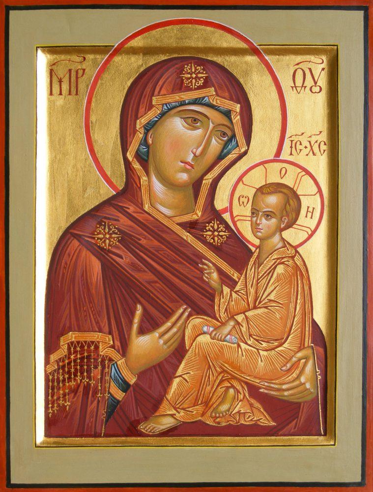 Die Mutter Gottes Tichwinskaja, Ikone, Ikonenmaler Alexander Stoljarov
