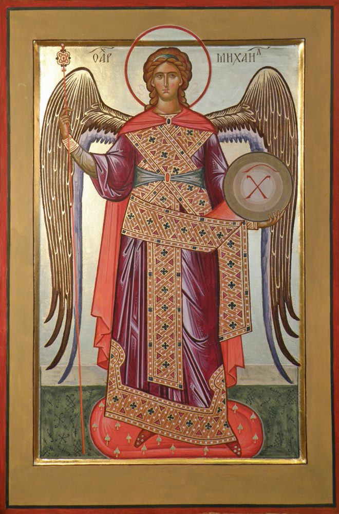 Erzengel Michail, Ikone, Ikonenmaler Alexander Stoljarov
