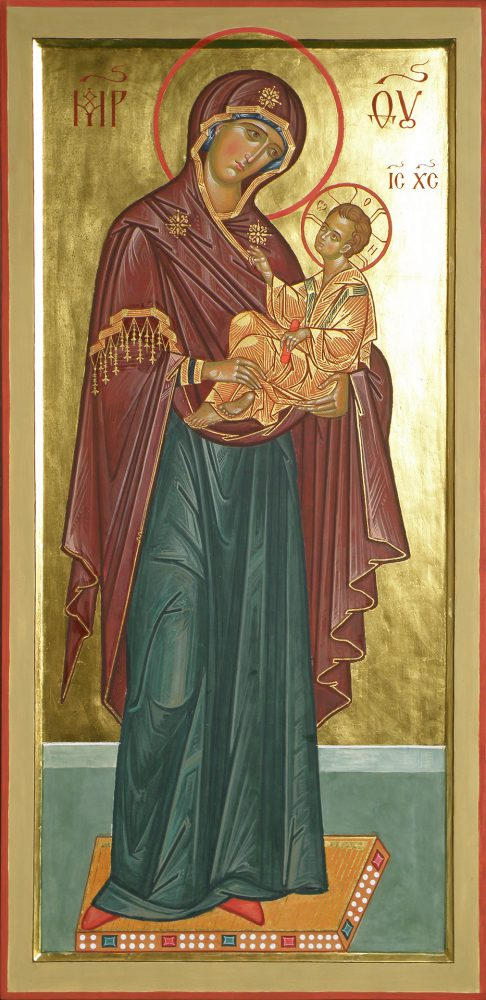 Gottesmutter, Ikone, Ikonenmaler Alexander Stoljarov
