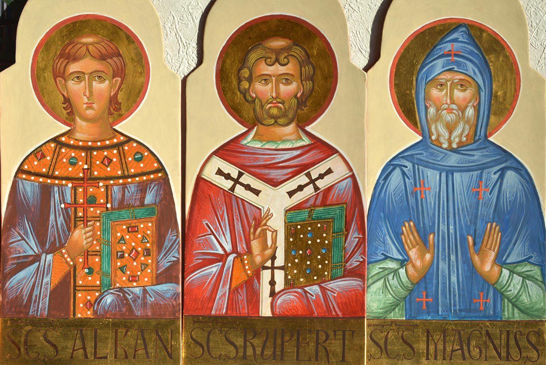 St. Alban, St. Rupert, St. Magnus Ikonenmalerei, Ikonen, Ikonenmaler