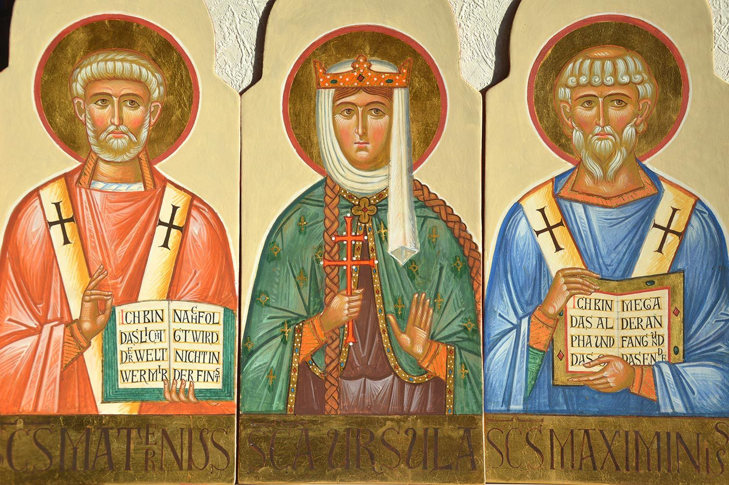 St. Maternus, St. Ursula, St. Maximinus Ikonenmalerei, Ikonen, Ikonenmaler