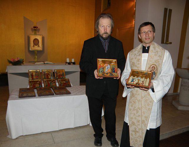 Weihung Kreuzweg, Alexander Stoljarov, Ikonen