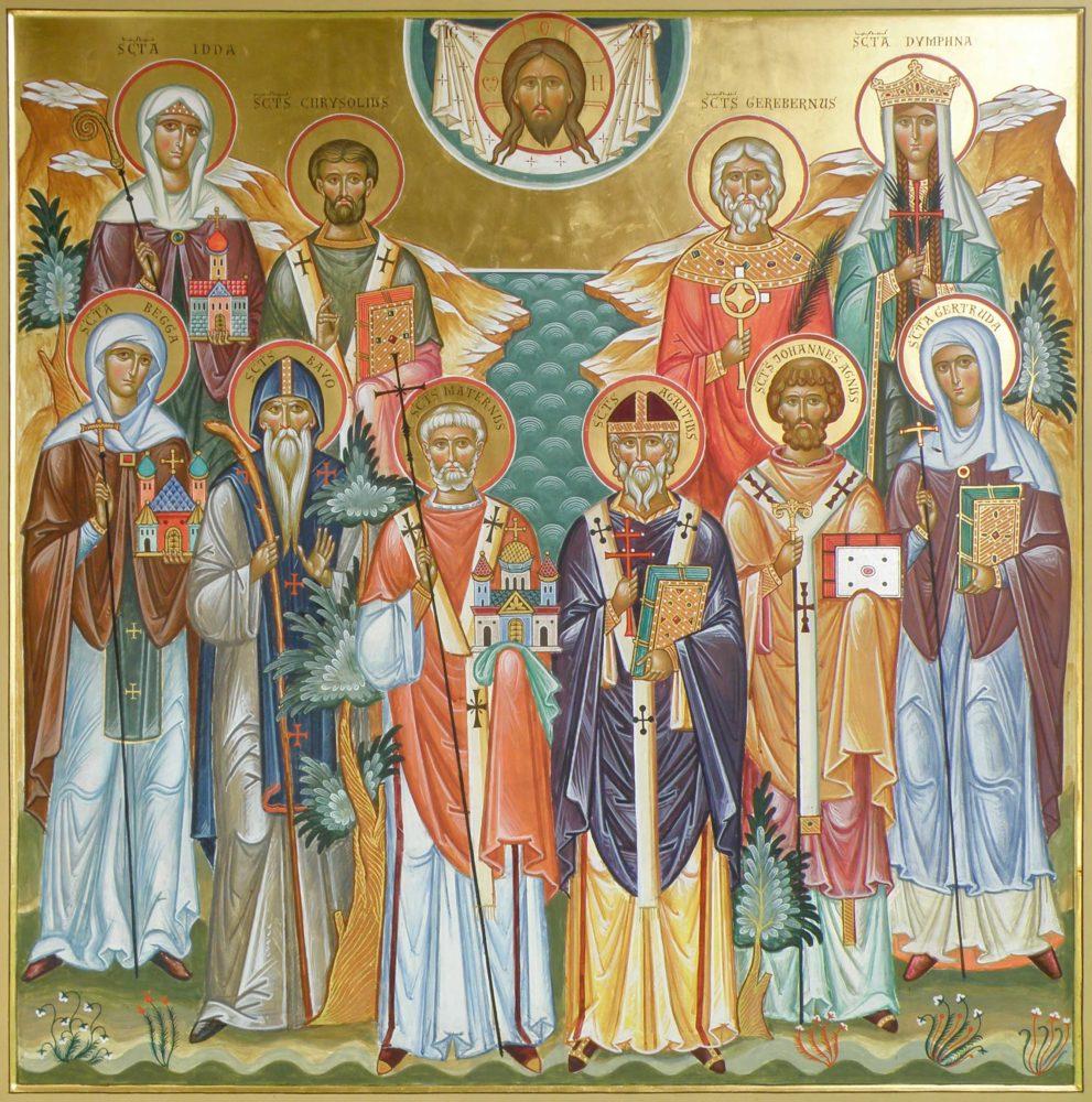 Belgische Heilige, Ikonen, Ikonenmaler Alexander Stoljarov