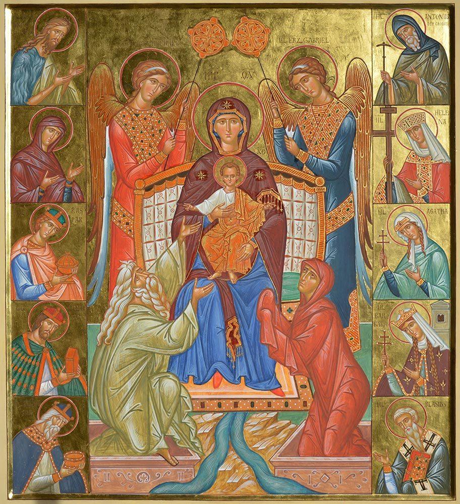 Marienikone, Lebensspendende Quelle, Ikonen, Ikonenmaler, Alexander Stoljarov