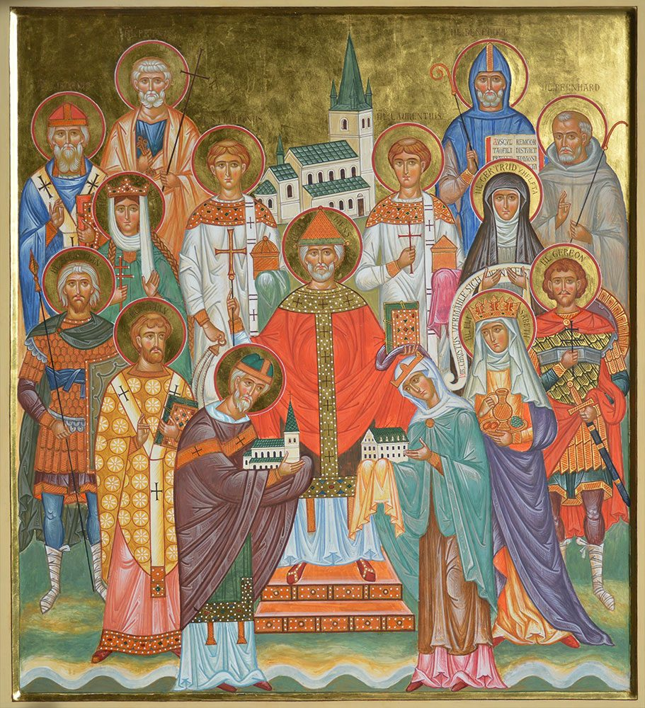 St. Clemens mit bedeutenden Heiligen, Ikonen, Ikonenmaler, Alexander Stoljarov