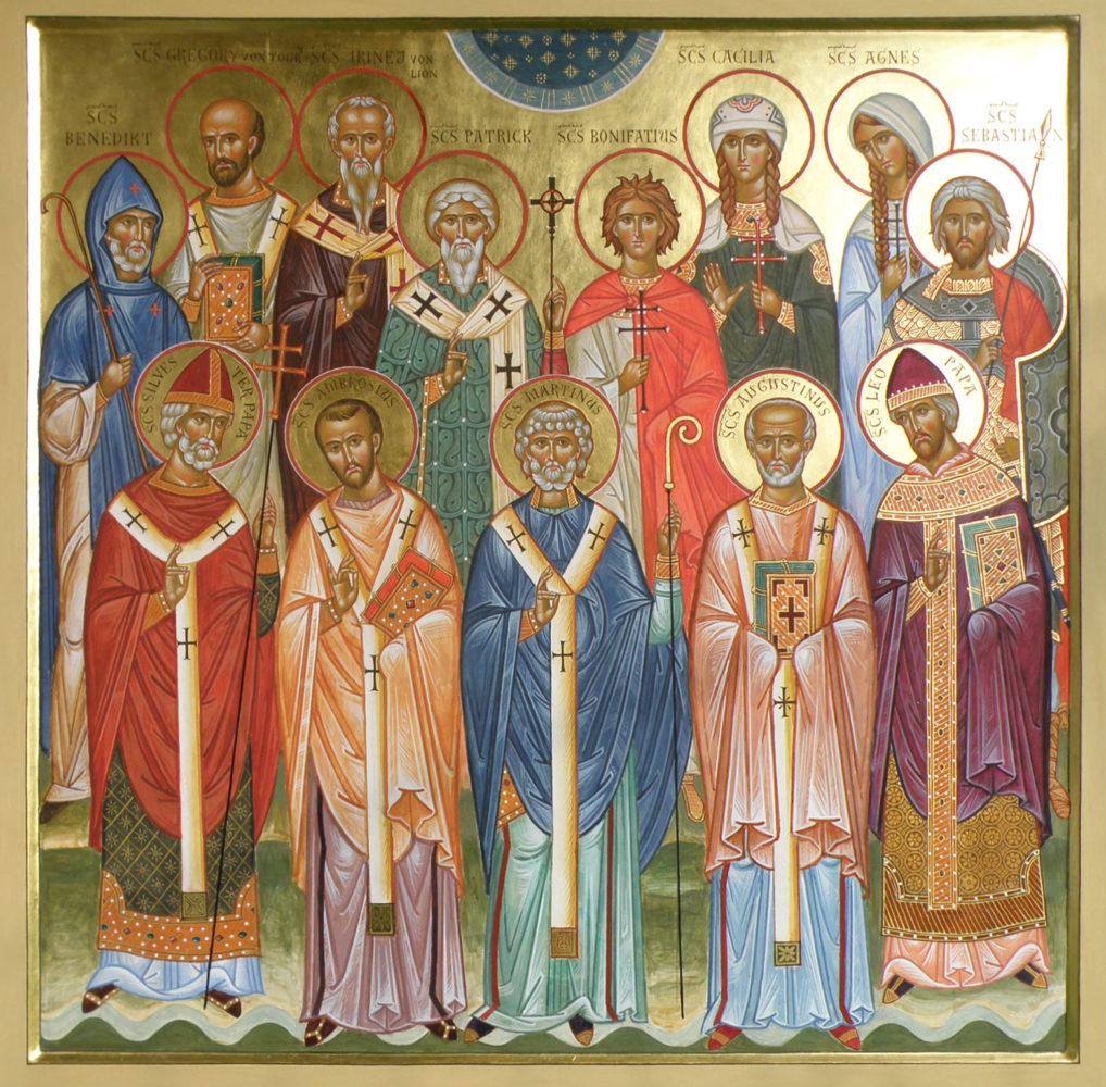 Westliche Heilige, Ikonen, Ikonenmaler Alexander Stoljarov