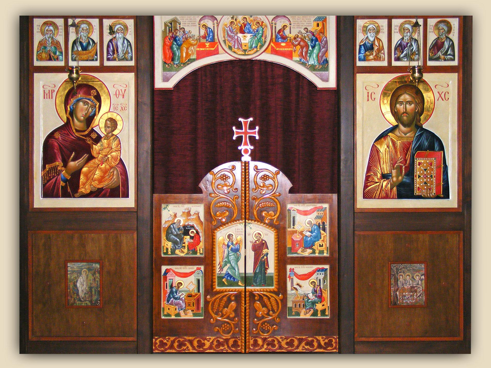 Altarwand Kloster Geilnau, Ikonenmaler, Alexander Stoljarov